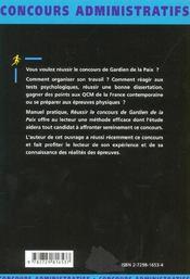 Gardien De La Paix Categorie C Nouvelle Edition Concours Externe Fonction Publique D'Etat - 4ème de couverture - Format classique