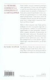 La Memoire, Comment La Conserver Et La Developper - 4ème de couverture - Format classique
