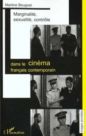 Marginalite Sexualite ; Controle Dans Le Cinema Francais Contemporain - Intérieur - Format classique