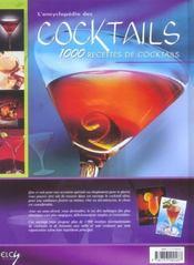 Encyclopedie Des Cocktails (L') - 4ème de couverture - Format classique