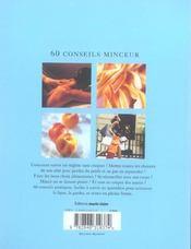 60 conseils minceur anti-kilos et anti-drprime - 4ème de couverture - Format classique