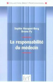 La responsabilité du médecin - Intérieur - Format classique