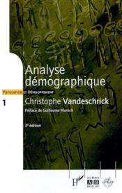 Analyse Demographique 1 - Couverture - Format classique