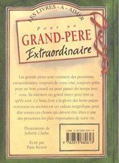 Pour Un Grand Pere Extraordinaire - 4ème de couverture - Format classique