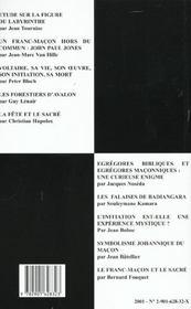 Travaux de la loge t.47 ; gloire au travail - 4ème de couverture - Format classique