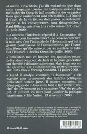L'Industrie De L'Holocauste ; Reflexions Sur L'Exploitation De La Souffrance Des Juifs - 4ème de couverture - Format classique