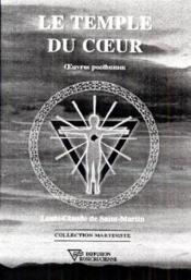 Le Temple Du Coeur - Oeuvres Posthumes - Couverture - Format classique