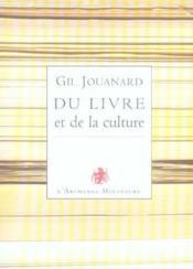 Du Livre Et De La Culture - Couverture - Format classique