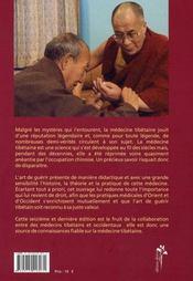 L'art de guérir, médecine tibétaine - 4ème de couverture - Format classique