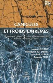Vente livre :  Canicules Et Froids Extremes  - Collectif