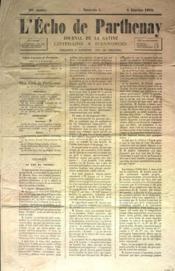Echo De Parthenay (L') N°1 du 02/01/1870 - Couverture - Format classique
