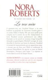 Le secret des fleurs t.2 ; la rose noire - 4ème de couverture - Format classique