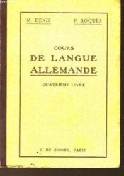 Cours De Langue Allemande - Couverture - Format classique