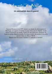 Carnets d'Algérie ; un séminariste dans la guerre - 4ème de couverture - Format classique