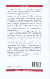 La Confession De Lucio - 4ème de couverture - Format classique