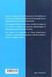 Integrer Les Iep De Province Nouvelles Epreuves Methodologie Et Sujets Corriges - 4ème de couverture - Format classique