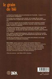 Le grain de blé; composition et utilisation - 4ème de couverture - Format classique