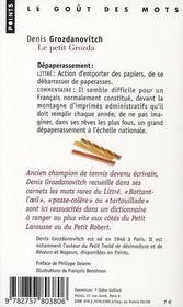 Le petit Grozda ; les merveilles oubliées du Littré - 4ème de couverture - Format classique