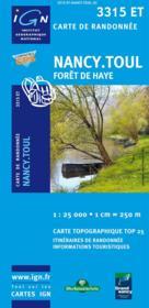 Forêt de Haye ; Nancy ; Toul ; 3315 ET - Couverture - Format classique