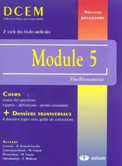 Module 5 ; vieillissement, incapacité et dépendance - Intérieur - Format classique