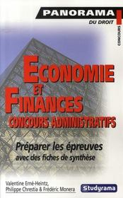 Économie et finances : concours administratifs - Intérieur - Format classique