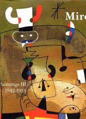 Miro Paintings T3 1942-1955 - Intérieur - Format classique