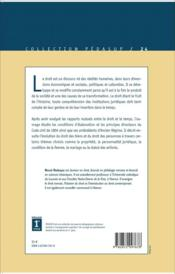 Histoire Du Droit Civil (3e Ed) (3e édition) - 4ème de couverture - Format classique