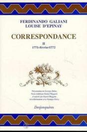 Correspondance Tome Ii (1771-Fevrier 1772) - Couverture - Format classique