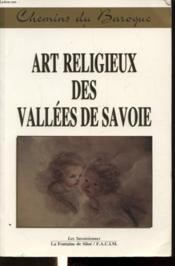 T1 art religieux des vallees de savoie / ch - Couverture - Format classique