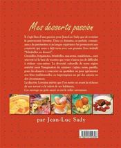 Mes Desserts Passion - 4ème de couverture - Format classique