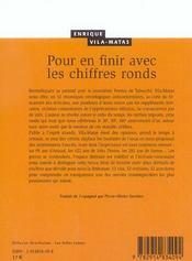 Pour En Finir Avec Les Chiffres Ronds - 4ème de couverture - Format classique