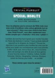 Trivial pursuit spécial insolite - 4ème de couverture - Format classique
