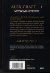 Alex Craft t.1 ; necromancienne - 4ème de couverture - Format classique