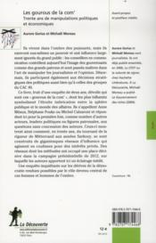 Les gourous de la com' ; trente ans de manipulations politiques et économiques - 4ème de couverture - Format classique