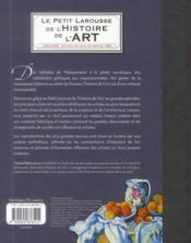 Le petit Larousse de l'histoire de l'art - 4ème de couverture - Format classique