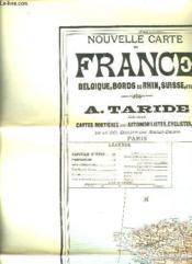 Nouvelle Carte De France Belgique, Bords Du Rhin, Suisse. - Couverture - Format classique