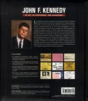 John F Kennedy Sa Vie Sa Presidence - 4ème de couverture - Format classique