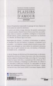 Plaisirs d'amour ; anthologie des plus beaux mots d'amour - 4ème de couverture - Format classique