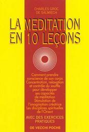 La Meditation En 10 Lecons - Intérieur - Format classique