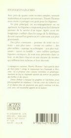 Etonnants Legumes - 4ème de couverture - Format classique