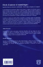 Droit D'Auteur Et Numerique - 4ème de couverture - Format classique