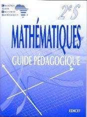 Mathematiques ciam 2nde s (scientifique) / guide pedagogique - Couverture - Format classique