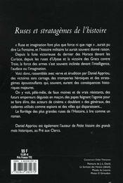 Ruses Et Stratagemes De L'Histoire - 4ème de couverture - Format classique