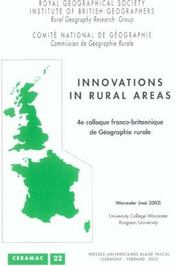 Vente livre :  Innovations In Rural Areas  - Collectif