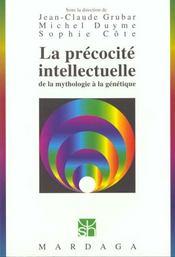 La précocité intellectuelle ; de la mythologie à la génétique - Intérieur - Format classique