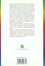 La précocité intellectuelle ; de la mythologie à la génétique - 4ème de couverture - Format classique