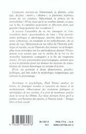 Francois mitterrand le phenix - 4ème de couverture - Format classique