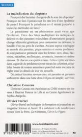 La malédiction du cloporte ; et autres histoires de parasites - 4ème de couverture - Format classique