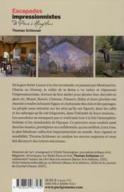 Escapades impressionnistes ; de Paris à Honfleur ; musées, ateliers, maisons et paysages - 4ème de couverture - Format classique
