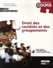 Droit des sociétés et des groupements (2e édition) - Couverture - Format classique